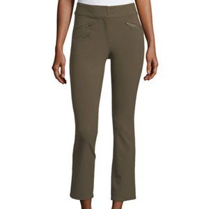 Veronica Beard | Olive Green Adelaide Cropped Pant